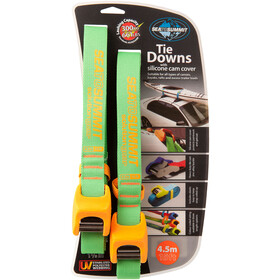 Sea to Summit Tie Downs with Silicone Cam Cover Strap 4,5 m Pair lime/orange